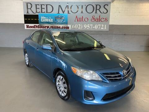 2013 Toyota Corolla for sale at REED MOTORS LLC in Phoenix AZ