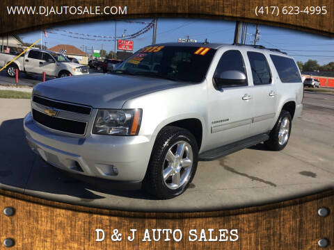 2011 Chevrolet Suburban for sale at D & J AUTO SALES in Joplin MO