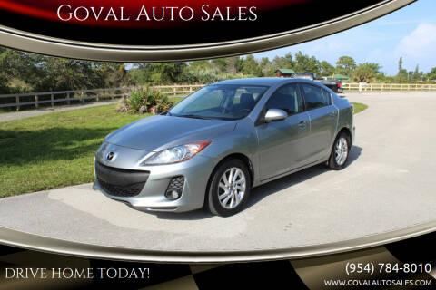 2013 Mazda MAZDA3 for sale at Goval Auto Sales in Pompano Beach FL