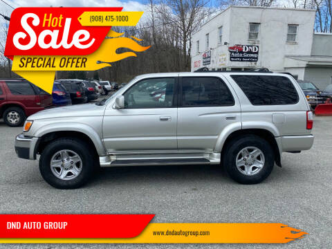 2002 Toyota 4Runner for sale at DND AUTO GROUP in Belvidere NJ