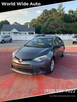 2015 Toyota Corolla for sale at World Wide Auto in Fayetteville NC