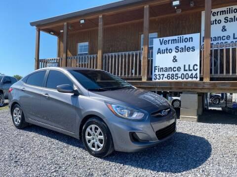 2014 Hyundai Accent for sale at Vermilion Auto Sales & Finance in Erath LA