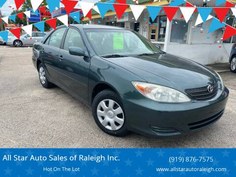 2004 Toyota Camry for sale at All Star Auto Sales of Raleigh Inc. in Raleigh NC