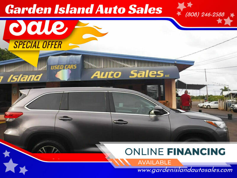 2018 Toyota Highlander for sale at Garden Island Auto Sales in Lihue HI