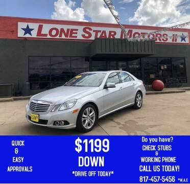 2011 Mercedes-Benz E-Class for sale at LONE STAR MOTORS II in Fort Worth TX