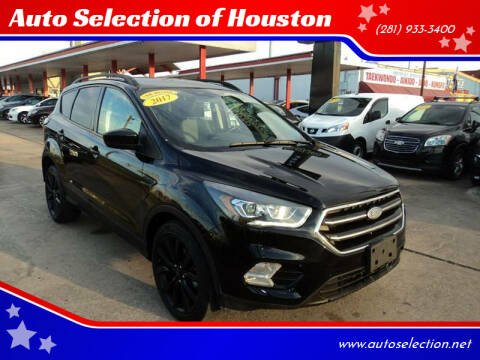 2017 Ford Escape for sale at Auto Selection of Houston in Houston TX