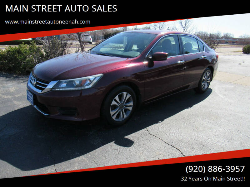 2013 Honda Accord for sale at MAIN STREET AUTO SALES in Neenah WI