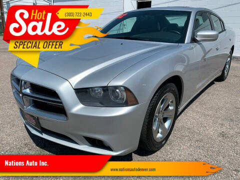 2012 Dodge Charger for sale at Nations Auto Inc. in Denver CO