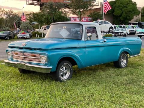 1962 Ford F-100 for sale at KD's Auto Sales in Pompano Beach FL