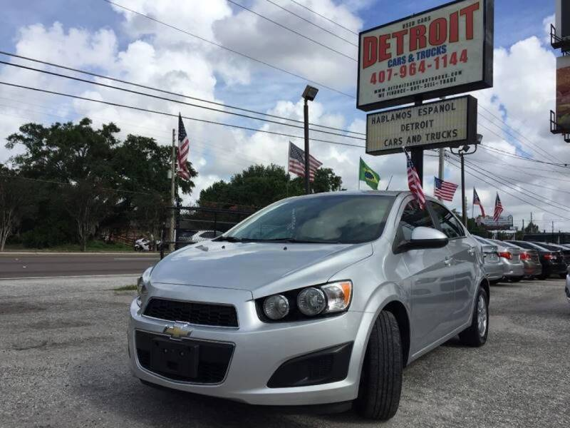 2014 Chevrolet Sonic for sale at Detroit Cars and Trucks in Orlando FL