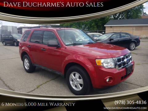 2011 Ford Escape for sale at Dave Ducharme's Auto Sales in Lowell MA