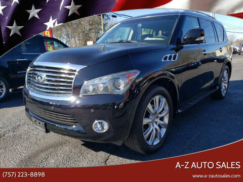 2013 Infiniti QX56 for sale at A-Z Auto Sales in Newport News VA