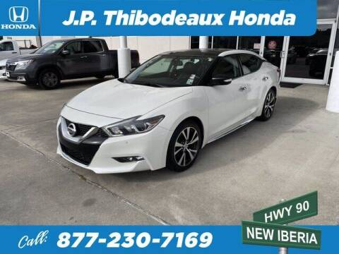 2016 Nissan Maxima for sale at J P Thibodeaux Used Cars in New Iberia LA