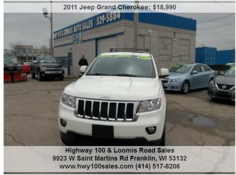 2011 Jeep Grand Cherokee for sale at Highway 100 & Loomis Road Sales in Franklin WI