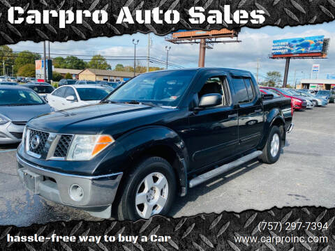 2006 Nissan Frontier for sale at Carpro Auto Sales in Chesapeake VA