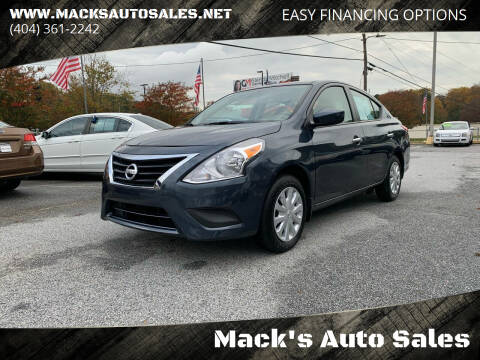 2015 Nissan Versa for sale at Mack's Auto Sales in Forest Park GA