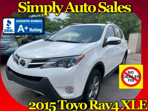 2015 Toyota RAV4 for sale at Simply Auto Sales in Palm Beach Gardens FL