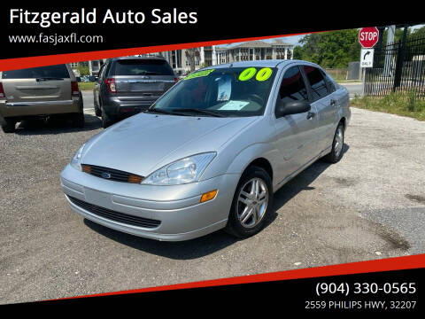 2000 Ford Focus for sale at Fitzgerald Auto Sales in Jacksonville FL