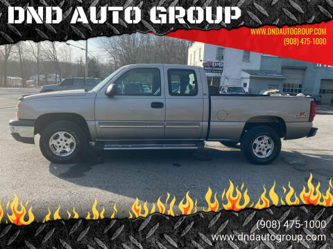 2003 Chevrolet Silverado 1500 for sale at DND AUTO GROUP in Belvidere NJ