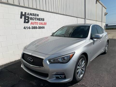 2016 Infiniti Q50 for sale at HANSEN BROTHERS AUTO SALES in Milwaukee WI