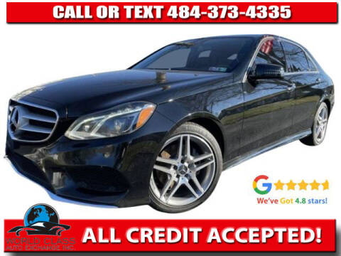 2014 Mercedes-Benz E-Class for sale at World Class Auto Exchange in Lansdowne PA
