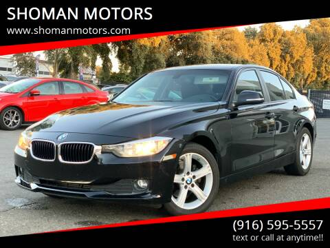 2014 BMW 3 Series for sale at SHOMAN MOTORS in Davis CA