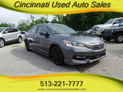 2017 Honda Accord for sale at Cincinnati Used Auto Sales in Cincinnati OH