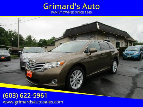 2011 Toyota Venza for sale at Grimard's Auto in Hooksett NH