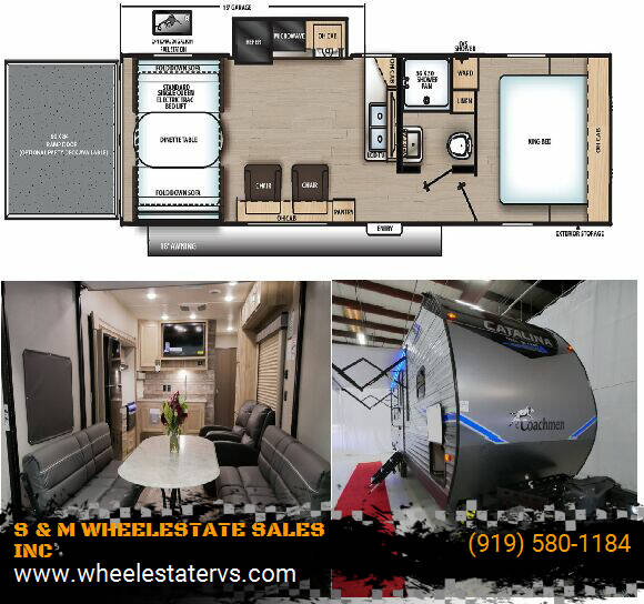 2021 Coachmen Catalina 28THS for sale at S & M WHEELESTATE SALES INC - Camper in Princeton NC