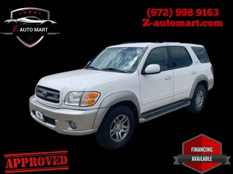 2003 Toyota Sequoia for sale at Z AUTO MART in Lewisville TX