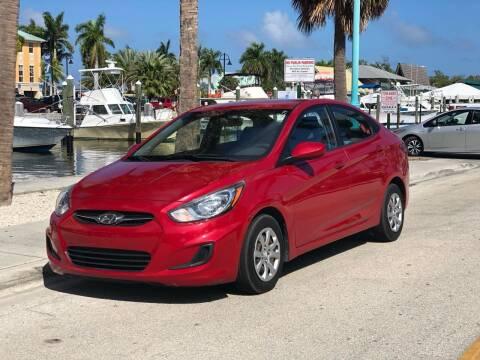 2014 Hyundai Accent for sale at L G AUTO SALES in Boynton Beach FL