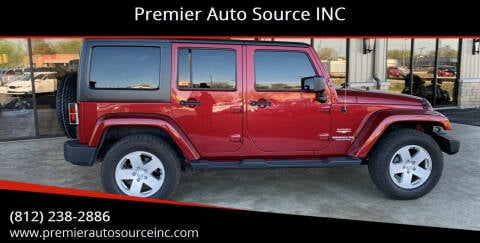 2011 Jeep Wrangler Unlimited for sale at Premier Auto Source INC in Terre Haute IN