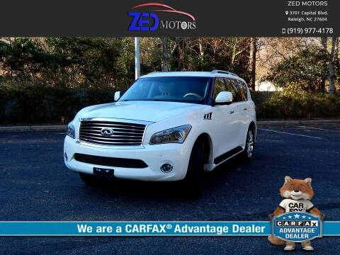 2012 Infiniti QX56 for sale at Zed Motors in Raleigh NC