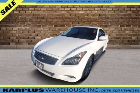 2015 Infiniti Q60 Coupe for sale at Karplus Warehouse in Pacoima CA