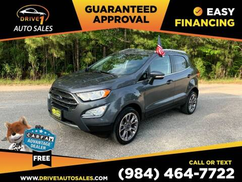2019 Ford EcoSport for sale at Drive 1 Auto Sales in Wake Forest NC
