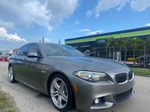 2015 BMW 5 Series for sale at GCR MOTORSPORTS in Hollywood FL
