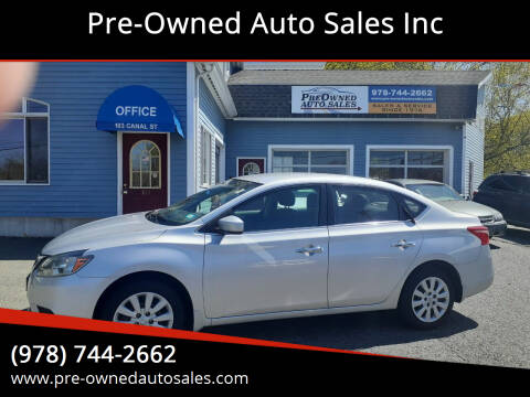 2016 Nissan Sentra for sale at Pre-Owned Auto Sales Inc in Salem MA