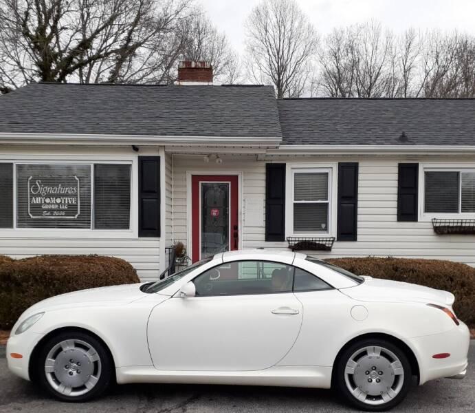 2003 Lexus SC 430 for sale at SIGNATURES AUTOMOTIVE GROUP LLC in Spartanburg SC