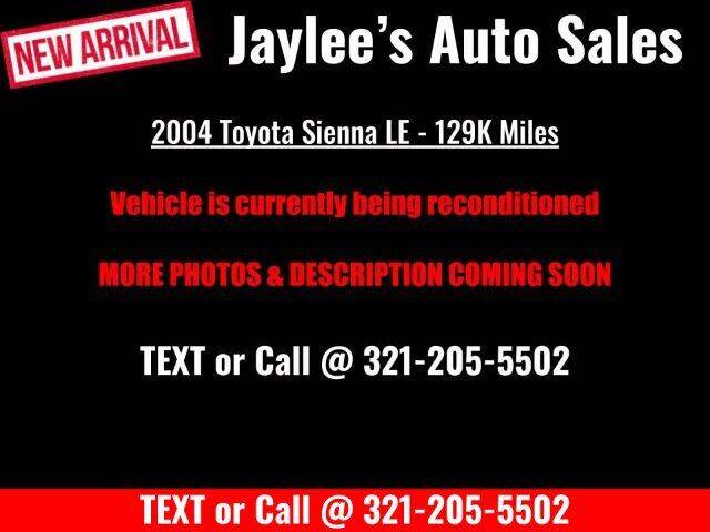 2004 Toyota Sienna for sale at Jaylee's Auto Sales, Inc. in Melbourne FL