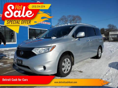 2014 Nissan Quest for sale at Detroit Cash for Cars in Warren MI