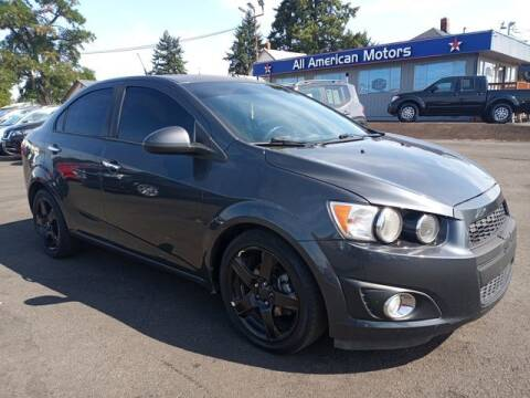 2012 Chevrolet Sonic for sale at All American Motors in Tacoma WA