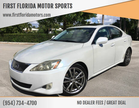 2008 Lexus IS 250 for sale at FIRST FLORIDA MOTOR SPORTS in Pompano Beach FL
