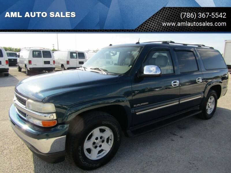 2005 Chevrolet Suburban for sale at AML AUTO SALES - Sedans/SUV's in Opa-Locka FL