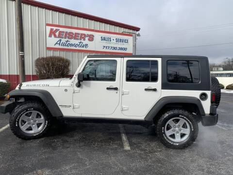 2010 Jeep Wrangler Unlimited for sale at Keisers Automotive in Camp Hill PA