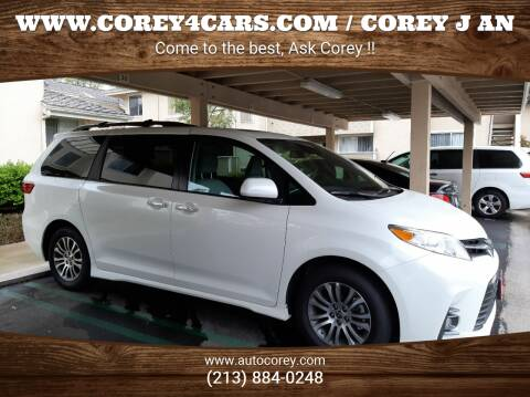 2020 Toyota Sienna for sale at WWW.COREY4CARS.COM / COREY J AN in Los Angeles CA