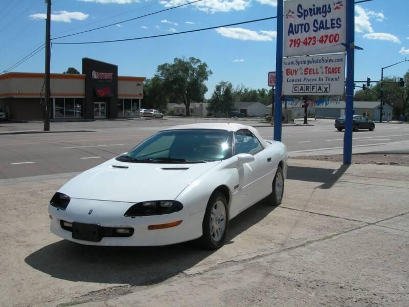 1995 Chevrolet Camaro for sale at Springs Auto Sales in Colorado Springs CO