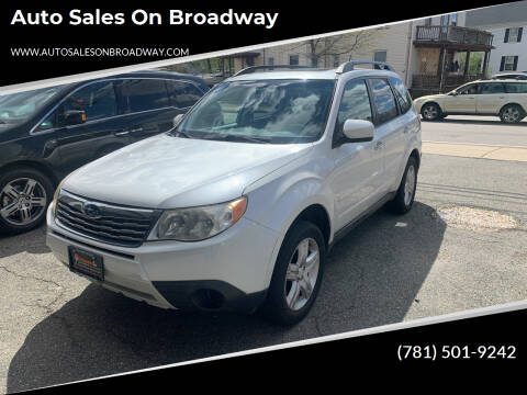 2010 Subaru Forester for sale at Auto Sales on Broadway in Norwood MA