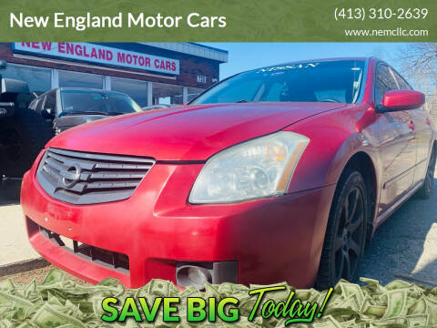 2007 Nissan Maxima for sale at New England Motor Cars in Springfield MA