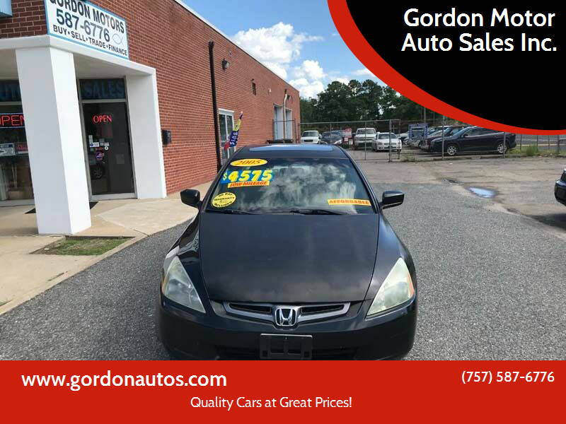 2005 Honda Accord for sale at Gordon Motor Auto Sales Inc. in Norfolk VA
