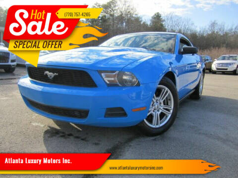 2011 Ford Mustang for sale at Atlanta Luxury Motors Inc. in Buford GA